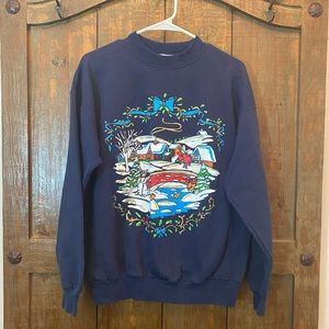 Vintage Winter Wonderland Printed Sweatshirt